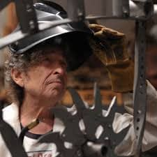 Bob Dylan welding hood
