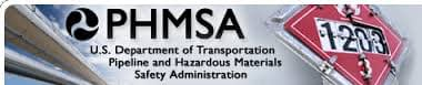 PHMSA Department of Transportation for Pipeline and Hazardous Materials