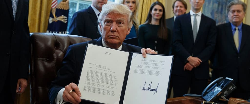 President Trump signs executive order to advance Keystone XL.