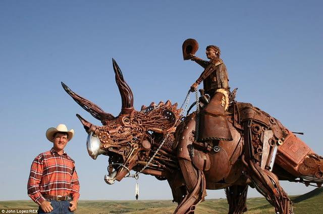 John Lopez's welded sculpture
