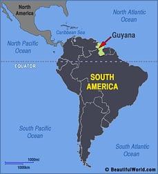 Guyana south america map