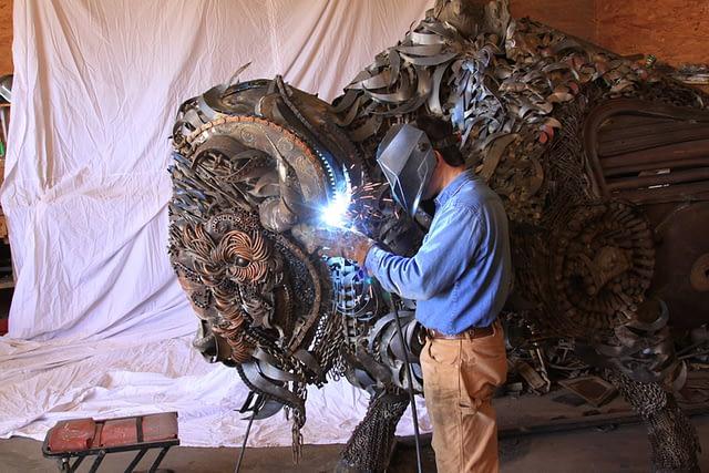 John Lopez welded buffalo